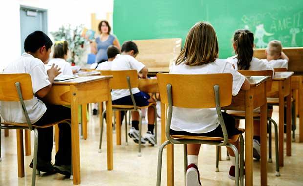 escuela con niños